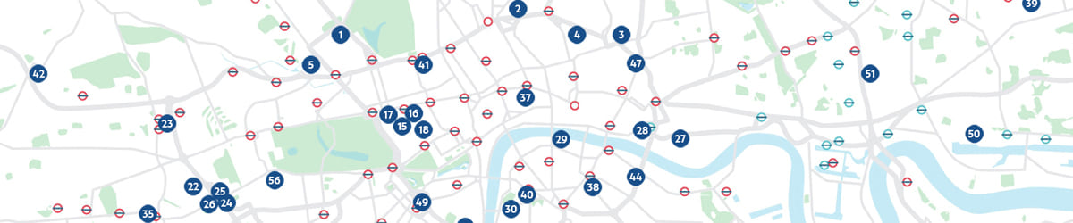 london projects location map