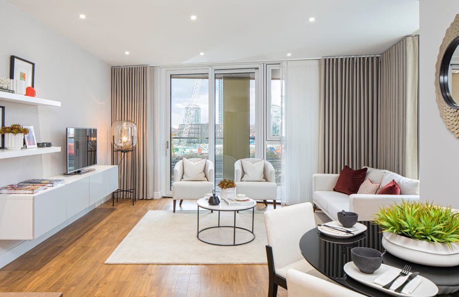 Living Room - Nine Elms Point London