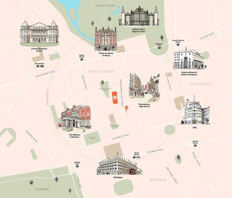 Marylebone Square Map