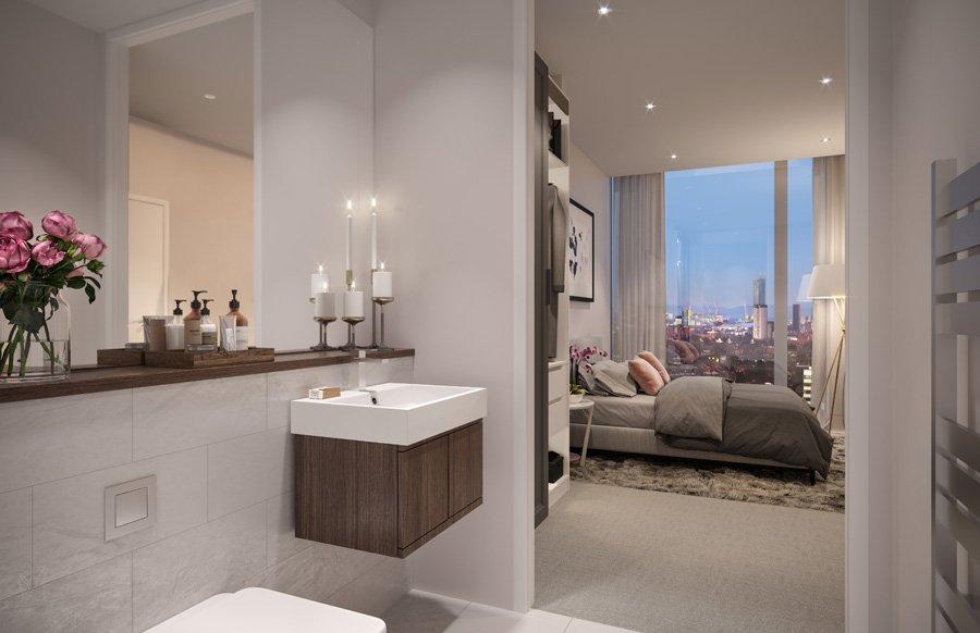 X1 Michigan Towers Bedroom