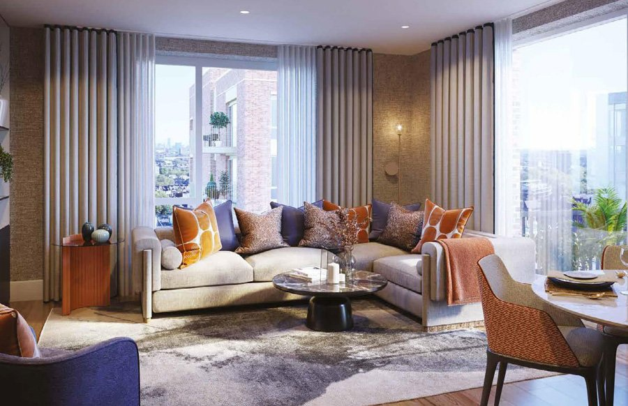 Oval Village Living Room